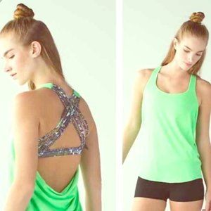 Lululemon Free To Be Wild Lime Green Tank Top